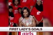 What are the first lady's current goals?