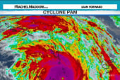 Monster cyclone tearing through South Pacific