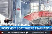 Jury looks at boat where Tsarnaev hid
