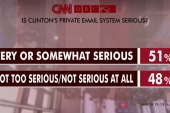Country divided on Hillary's email: poll
