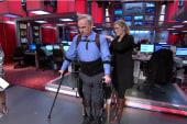 Bionic suit helps injured vet walk