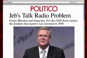 Jeb's conservative radio problem