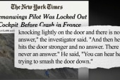 NYT: Pilot was locked out before crash