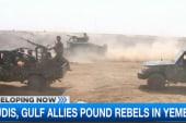 Saudis prepare ground troops at Yemen border