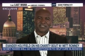 Holyfield talks charity match with Romney