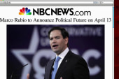 Rubio to announce political plans April 13
