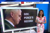 What is Pence's LGBT voting record?