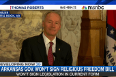 Governor won't sign religious freedom bill