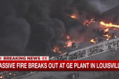 Four-alarm fire breaks out at GE plant
