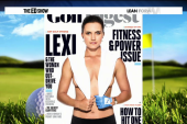 Female golfer graces Golf Digest cover