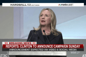 Reports: Clinton to announce on Sunday