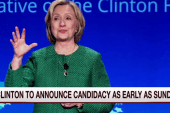 Hillary to announce bid as early as Sunday