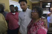 Bystander meets with Walter Scott's family