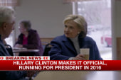 Hillary Clinton makes it official