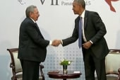 Obama, Castro meet at historic summit