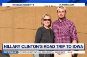 College student meets Clinton at gas station