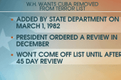 Criticism over removing Cuba from terror list