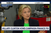 Clinton's strong words on campaign finance