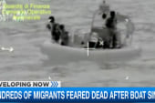 Boat carrying 950 migrants sinks