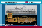 An aircraft carrier spied at rest