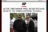 Rocker pleads guilty to threatening to kill