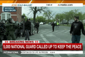 National Guard on streets of Baltimore