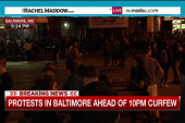 Peaceful protests ahead of Baltimore curfew