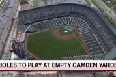 Orioles to play first-ever game with no fans