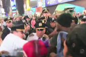 Protesters clash with police in New York City