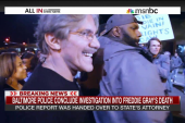 Protester faces off with Geraldo Rivera