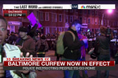 Night three of curfew in Baltimore