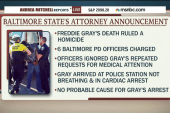 Mixed reactions in Baltimore over charges