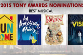 Three musicals top 2015 Tony nominations