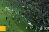 Brazilian soccer fans get heated