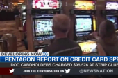 Did defense officials misuse credit cards?