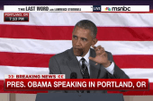 Obama pushes trade deal at Oregon DNC event