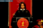 Michelle Obama gives powerful speech