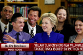 Healy: Clinton focusing on her message