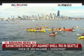 'Kayaktivists' face down Shell in Seattle