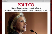 Hillary emails may not be seen until 2016