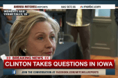 Hillary Clinton takes questions in Iowa