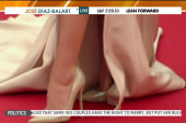 Some turned away from Cannes over flat shoes?