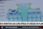 Teen invents system to wipe out germs on...