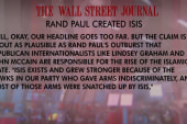 WSJ calls out Rand Paul over ISIS remark