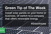 Green Tip: switch to renewable energy
