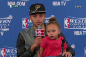 NBA star's daughter steals the show
