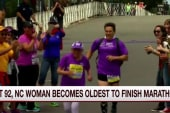 At 92, woman is oldest to finish a marathon