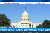 Congressional intern arrested on gun charge
