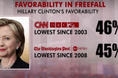 Hillary sees drop in favorability