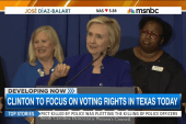 Clinton to focus on voting rights in Texas